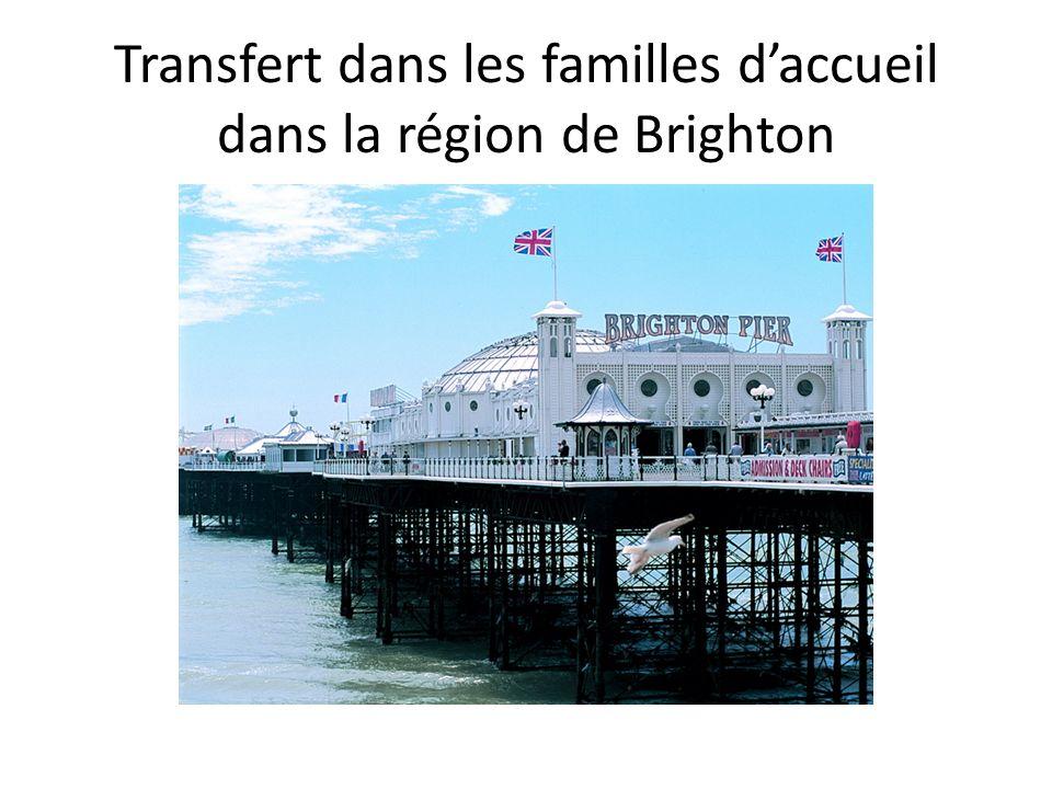 Transfert dans les familles daccueil dans la région de Brighton