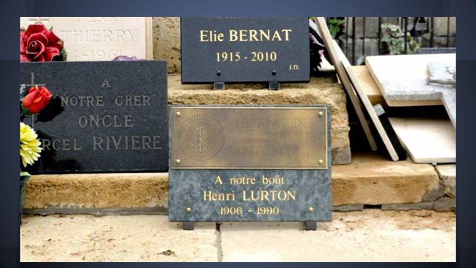 Pose dune plaque à la mémoire du Boüt Henri LURTON au cimetière de Bordeaux