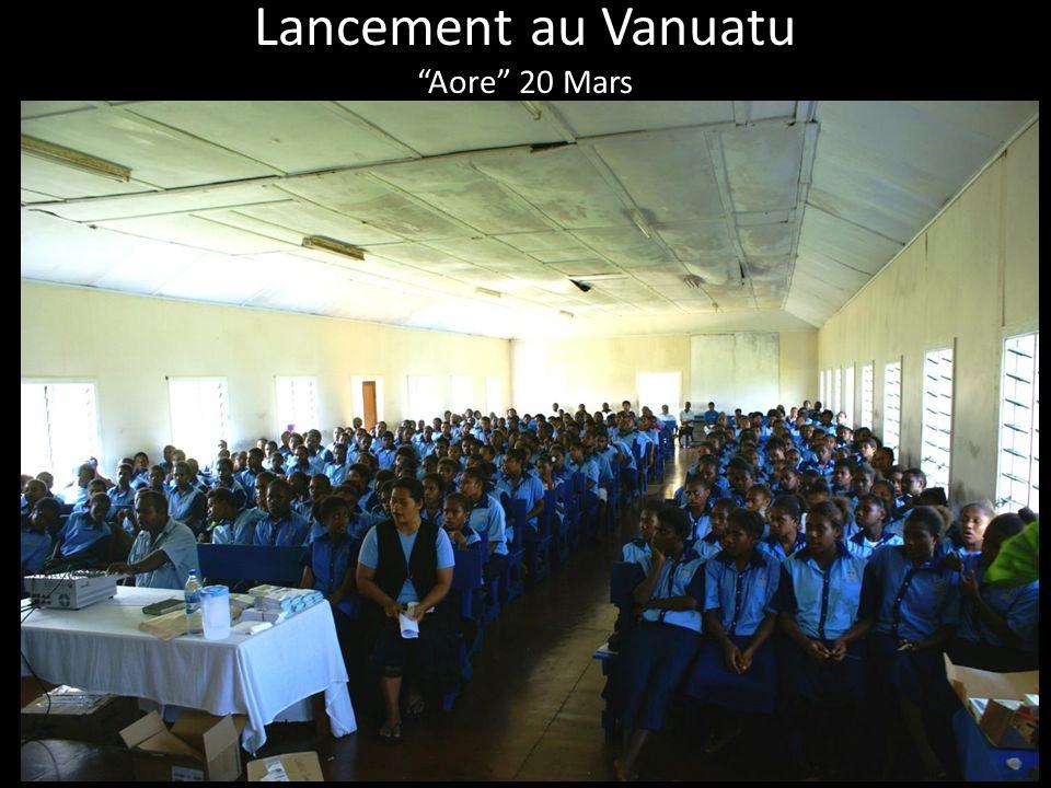 Lancement au Vanuatu Aore 20 Mars