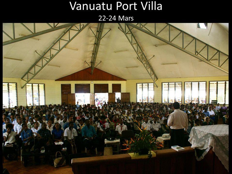 Vanuatu Port Villa 22-24 Mars