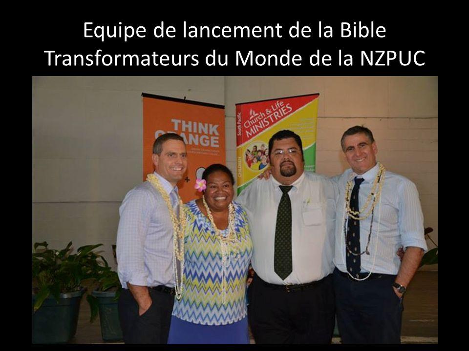 Equipe de lancement de la Bible Transformateurs du Monde de la NZPUC