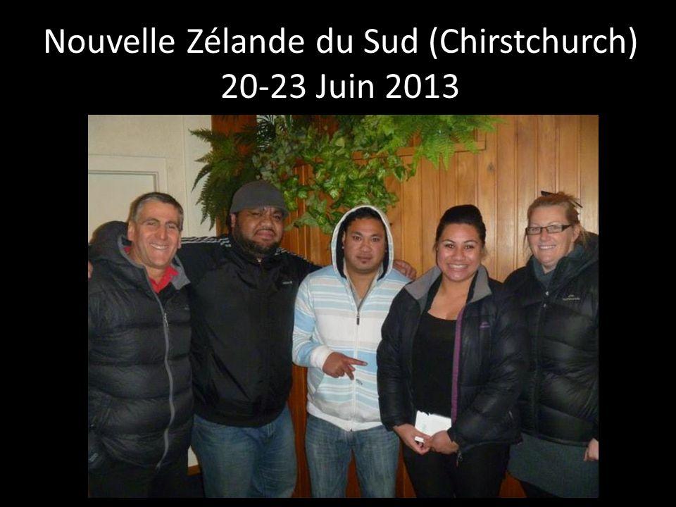 Nouvelle Zélande du Sud (Chirstchurch) 20-23 Juin 2013