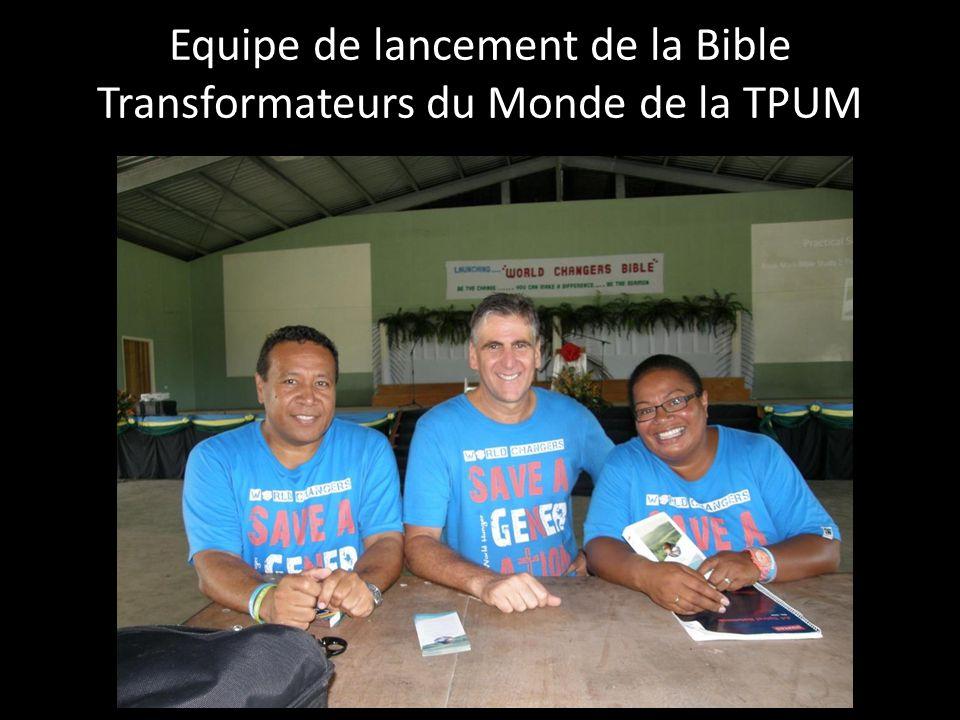 Equipe de lancement de la Bible Transformateurs du Monde de la TPUM