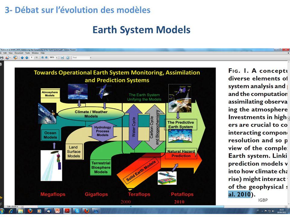 11 3- Débat sur lévolution des modèles Earth System Models IGBP