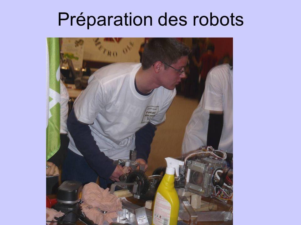 Préparation des robots