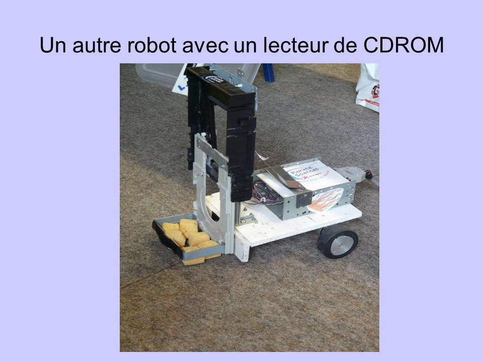 Un autre robot avec un lecteur de CDROM