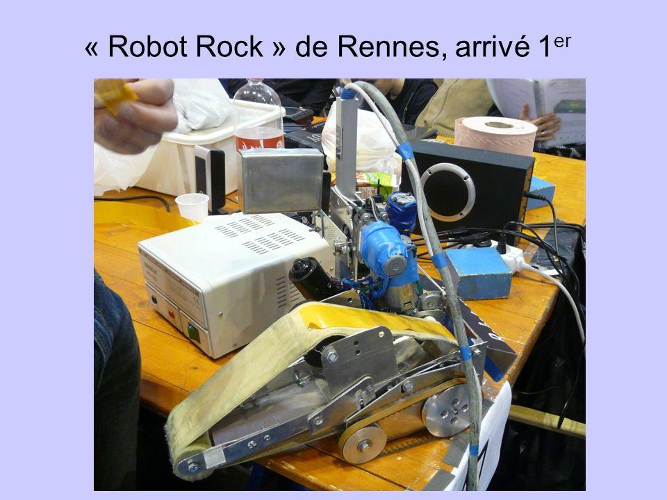 « Robot Rock » de Rennes, arrivé 1 er