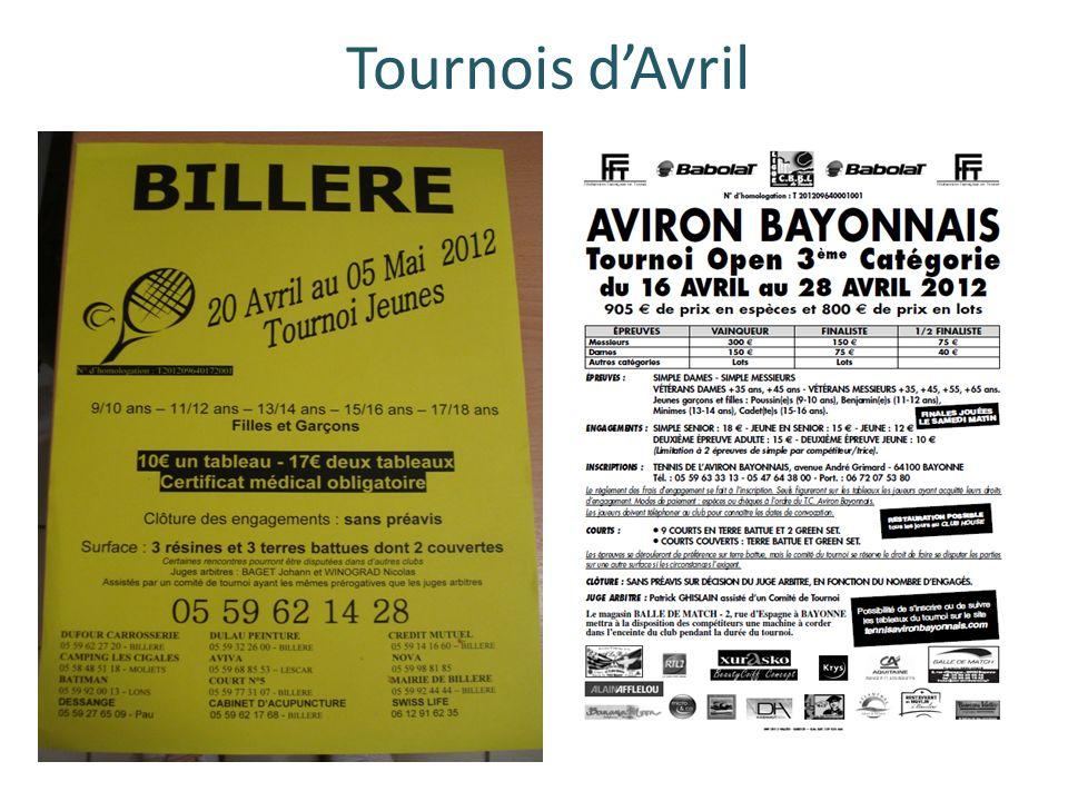Tournois dAvril