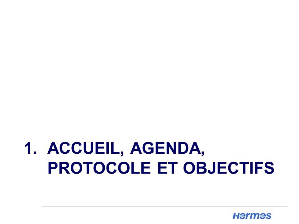 1. ACCUEIL, AGENDA, PROTOCOLE ET OBJECTIFS
