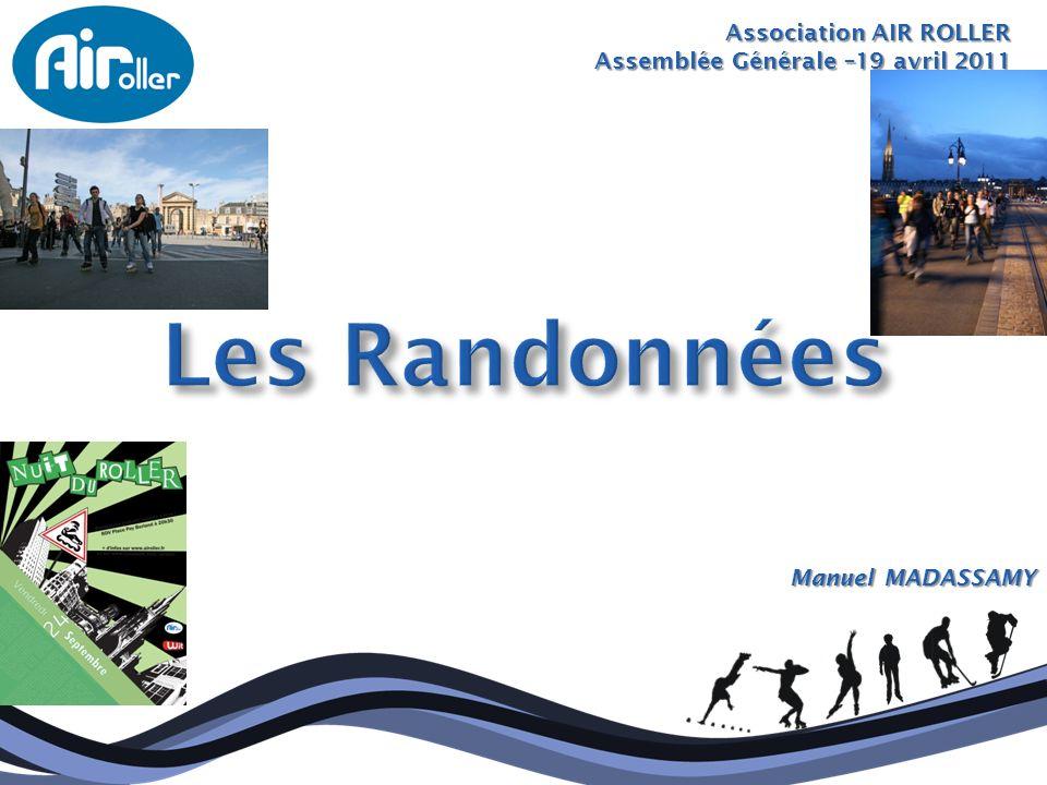 Association AIR ROLLER Assemblée Générale –19 avril 2011 Manuel MADASSAMY