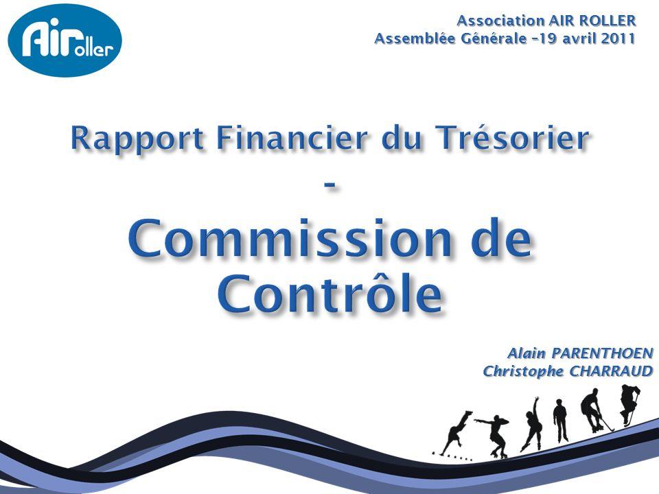 Association AIR ROLLER Assemblée Générale –19 avril 2011 Alain PARENTHOEN Christophe CHARRAUD