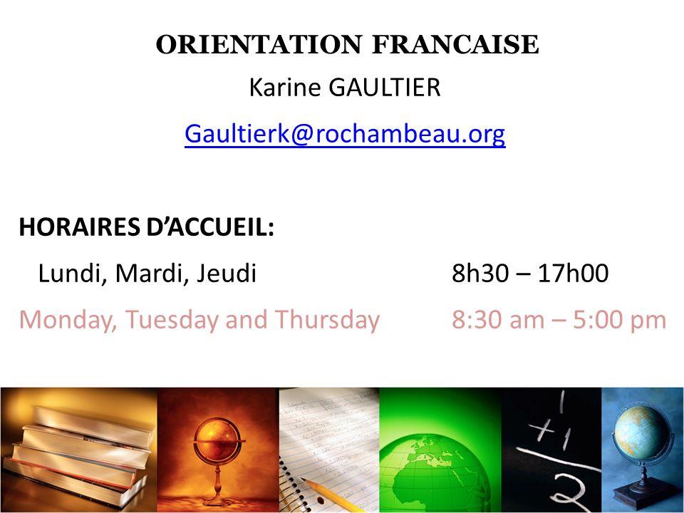 SITES INTERNET www.onisep.fr www.e-orientations.com www.letudiant.fr www.studyrama.com www.orientation-formation.fr www.etudiant.gouv.fr www.campusfrance.org