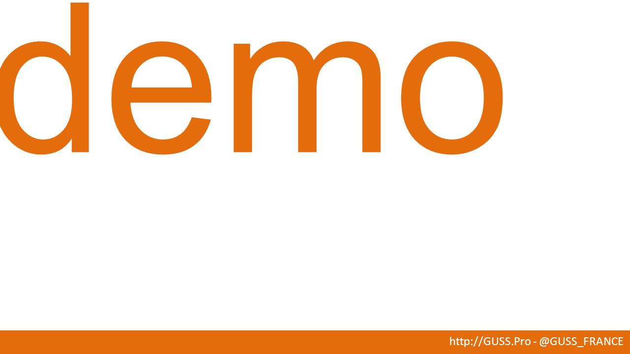 http://GUSS.Pro - @GUSS_FRANCE La doc: http://msdn.microsoft.com/en- us/library/bb510411(v=sql.120).aspx#Stats Présentation aux JSS 2013: http://guss.pro/wp-content/uploads/2013/12/New-CE- Incremental-Statistics_JSS2013.pptx Un bon Blog: http://www.sqlperformance.com/2014/02/sql-statistics/2014- incremental-statistics Mais encore… En final de la H-cup le 24 mai à 17h…