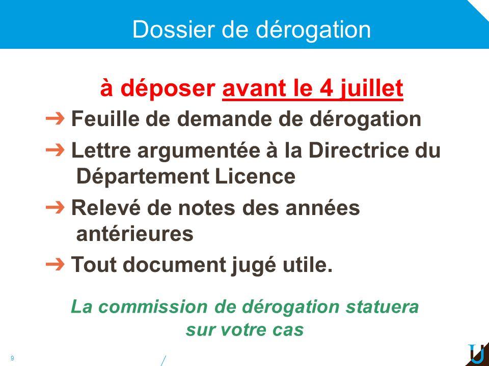10 Les règles de la Licence Obtention du diplôme de DEUG L1 et L2 validées Obtention du diplôme de Licence L1, L2 et L3 validées