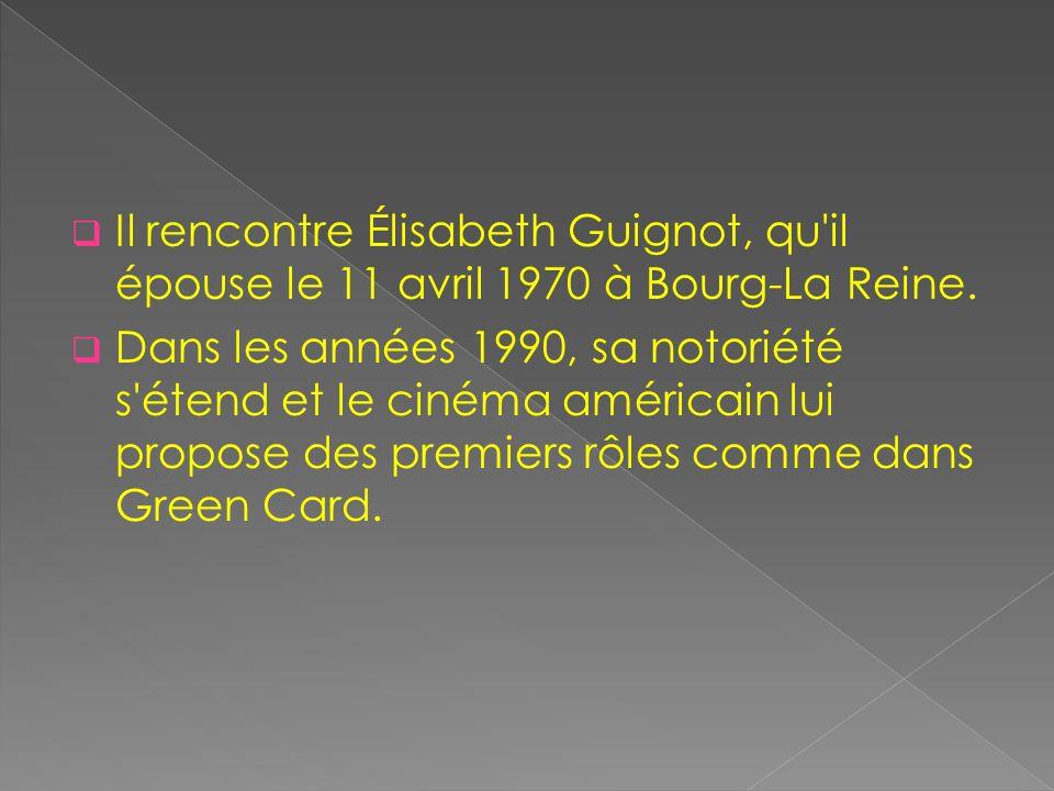 Il rencontre Élisabeth Guignot, qu'il épouse le 11 avril 1970 à Bourg-La Reine. Dans les années 1990, sa notoriété s'étend et le cinéma américain lui