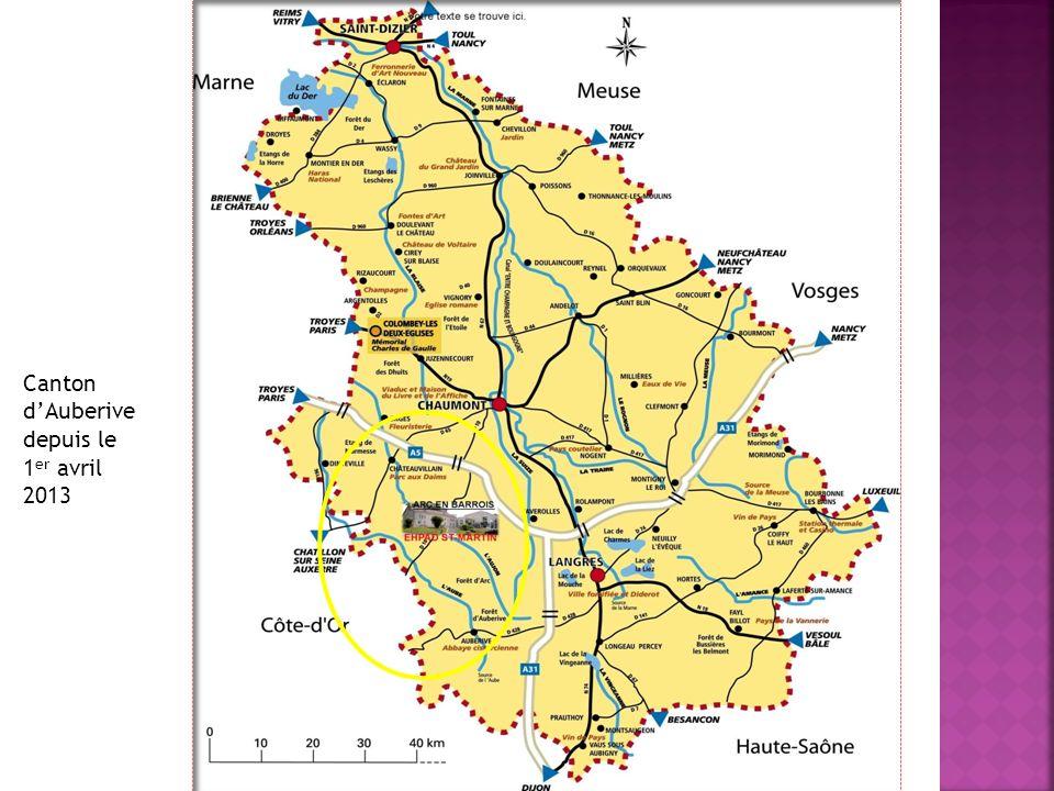 Canton dAuberive depuis le 1 er avril 2013