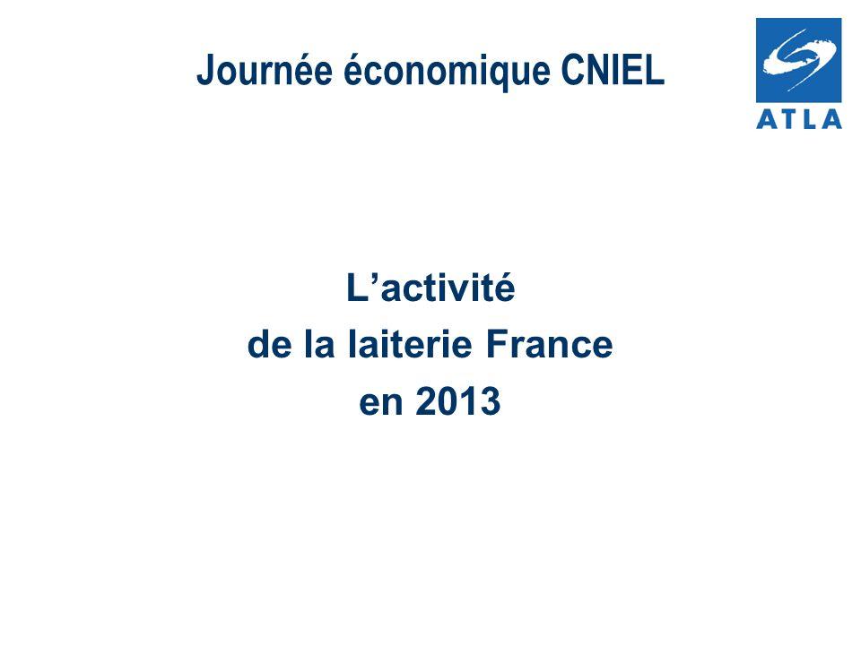 Lactivité de la laiterie France en 2013 Journée économique CNIEL