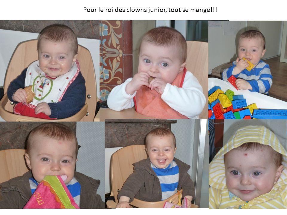 Pour le roi des clowns junior, tout se mange!!!