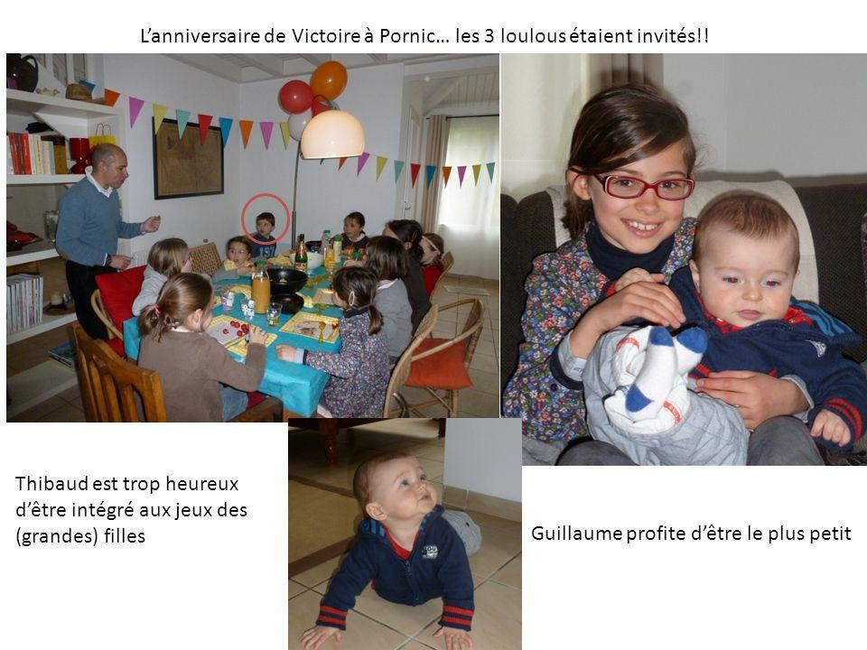 Lanniversaire de Victoire à Pornic… les 3 loulous étaient invités!.