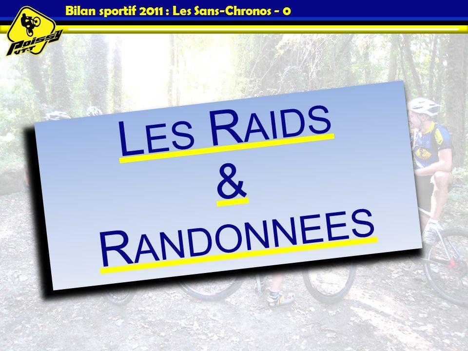 Bilan sportif 2011 : Les Sans-Chronos - 0 L ES R AIDS & R ANDONNEES