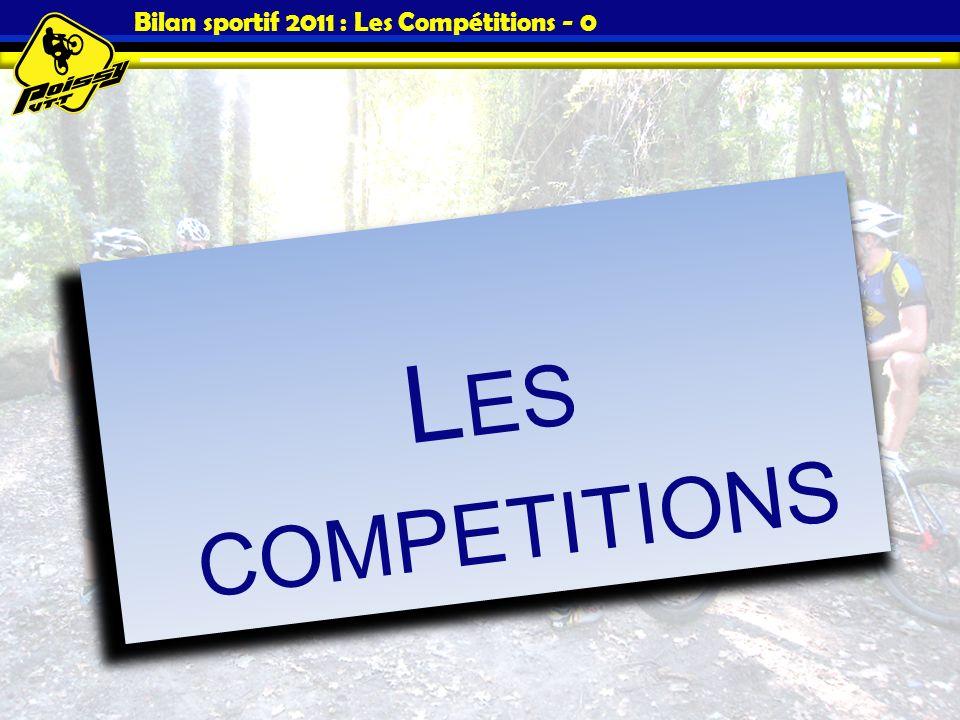 Bilan sportif 2011 : Les Compétitions - 0 L ES COMPETITIONS