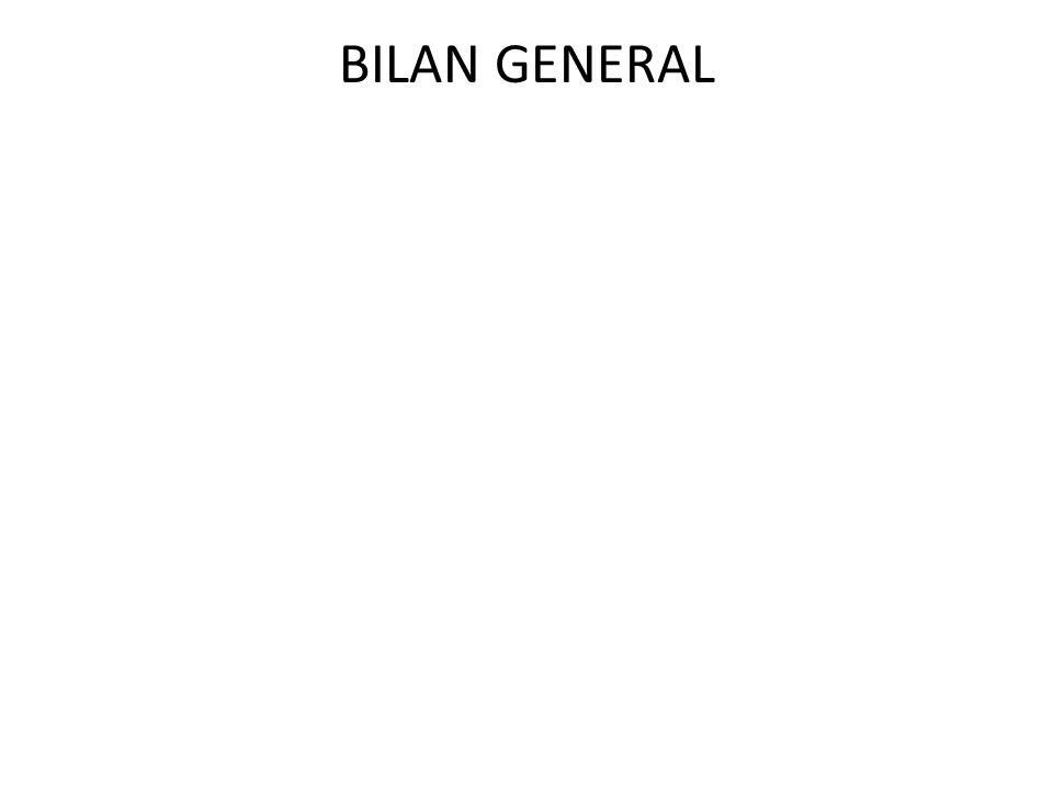 BILAN GENERAL