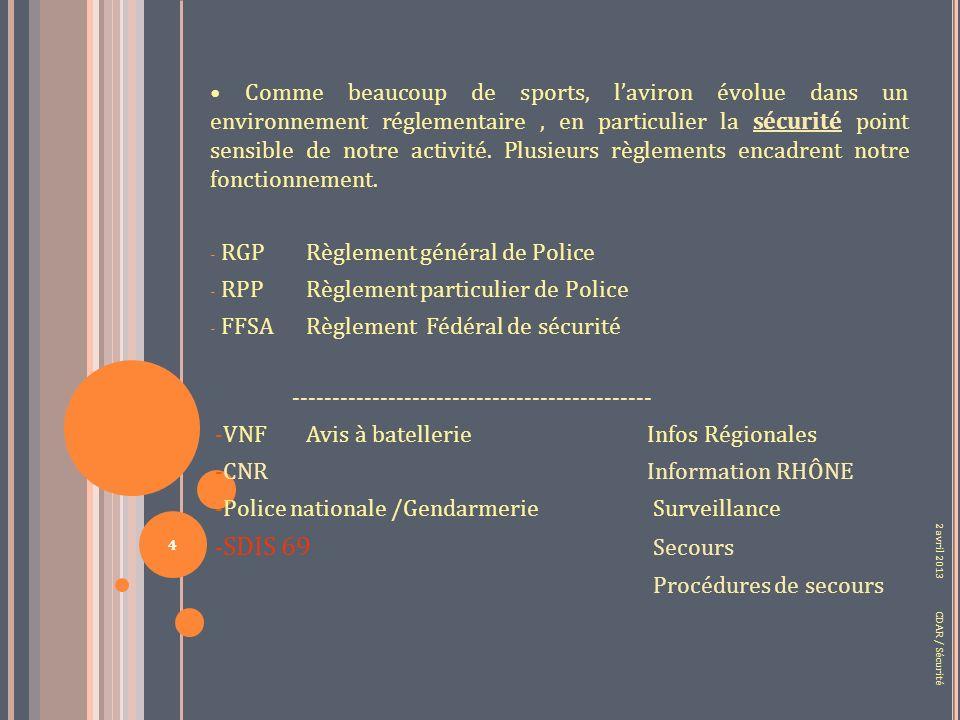 PROPOSITIONS PropositionI PropositionII PropositionIII 2 avril 2013 CDAR / Sécurité 35