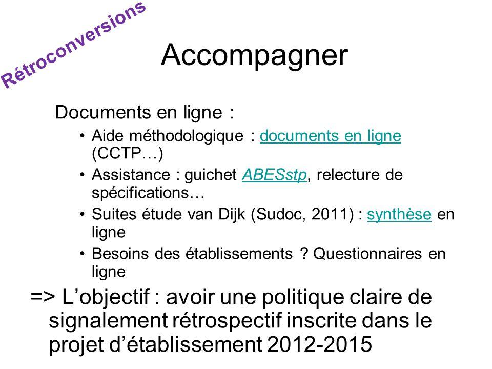Documents en ligne : Aide méthodologique : documents en ligne (CCTP…)documents en ligne Assistance : guichet ABESstp, relecture de spécifications…ABES