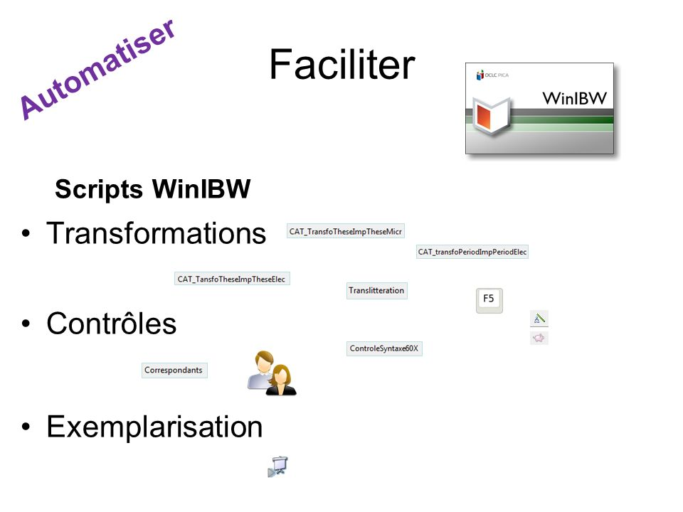 Faciliter Scripts WinIBW Transformations Contrôles Exemplarisation Automatiser