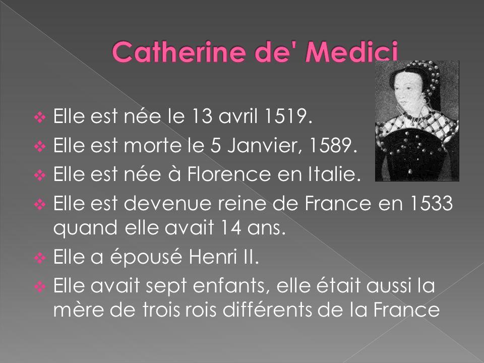 Elle était la fille de Lorenzo de Médicis et de Madeleine de La Tour d Auvergne.