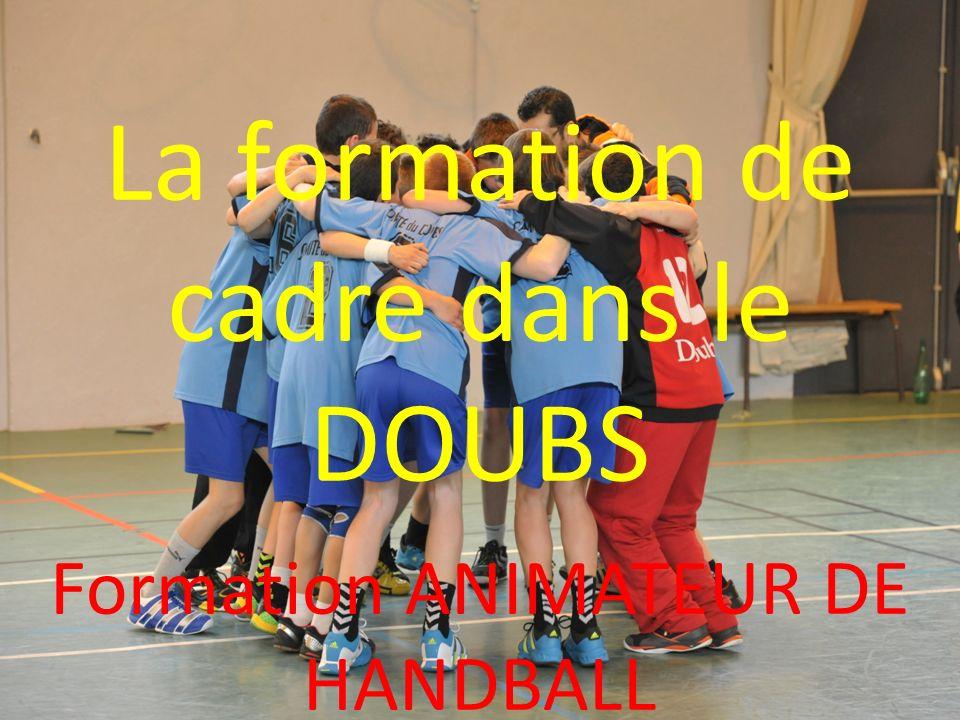 La formation de cadre dans le DOUBS Formation ANIMATEUR DE HANDBALL