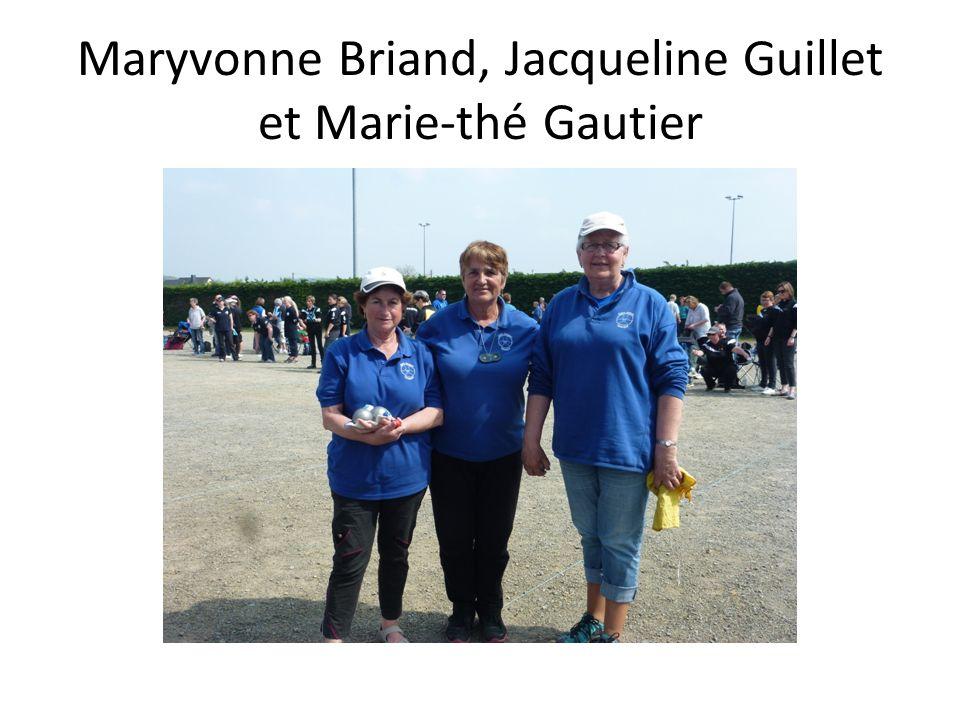 Maryvonne Briand, Jacqueline Guillet et Marie-thé Gautier