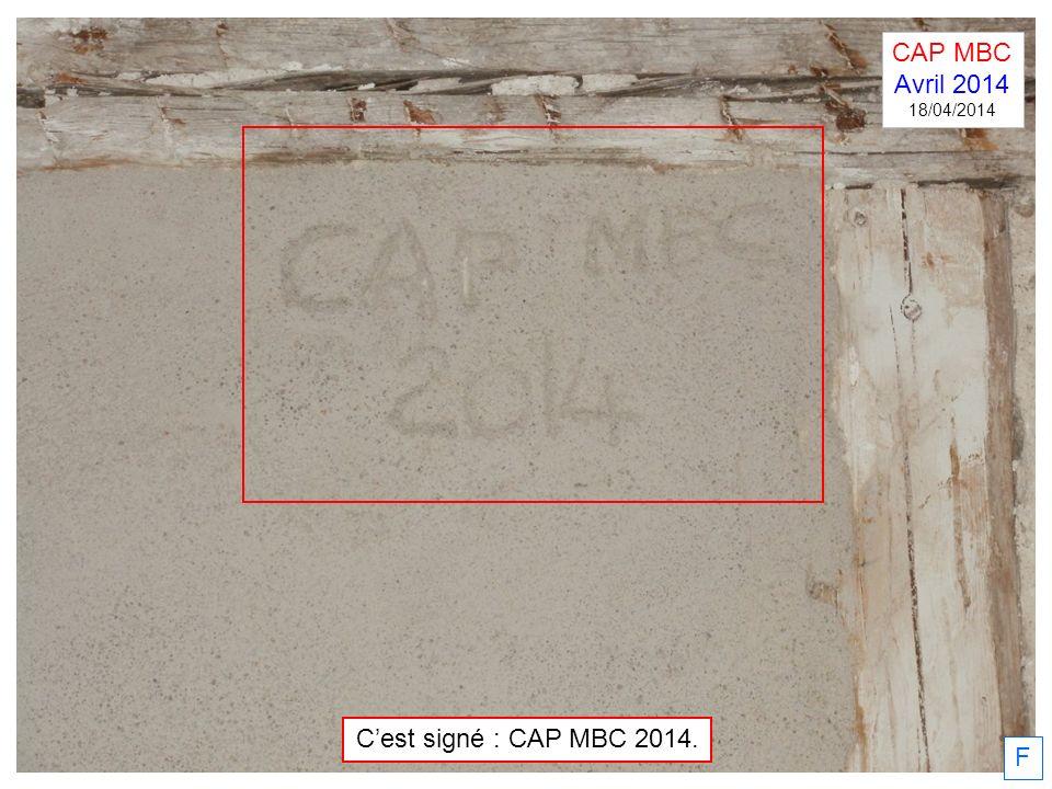 F Cest signé : CAP MBC 2014. CAP MBC Avril 2014 18/04/2014