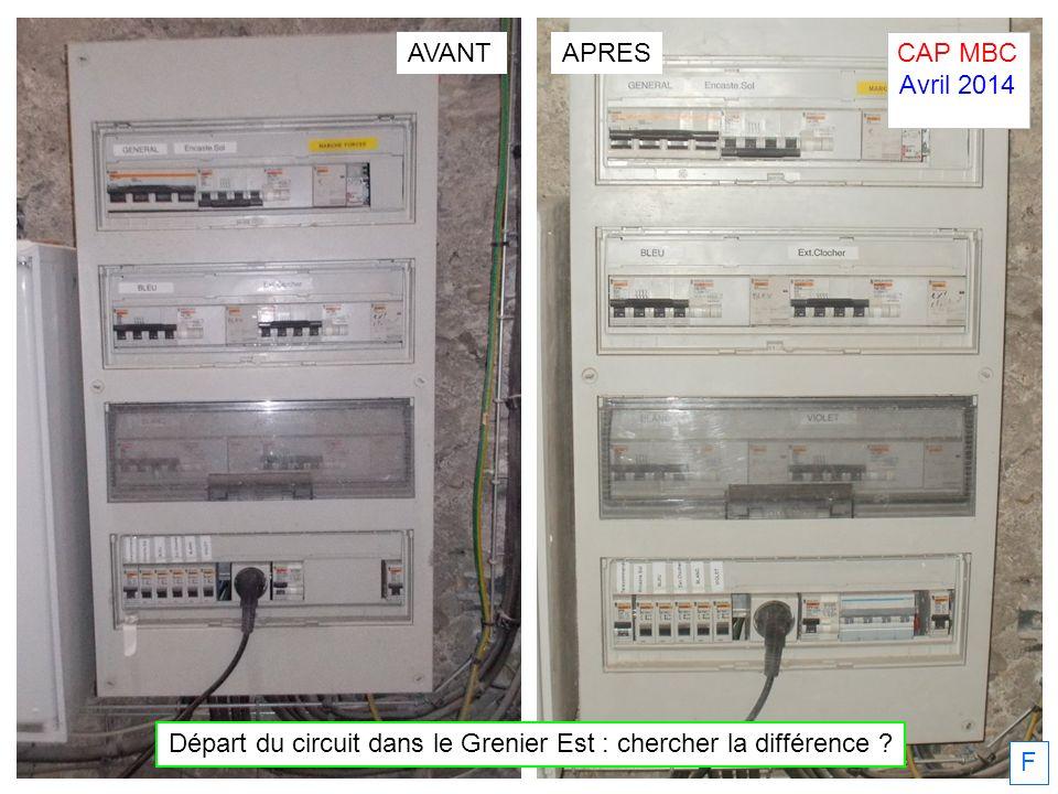 F Départ du circuit dans le Grenier Est : chercher la différence ? APRESAVANT CAP MBC Avril 2014.