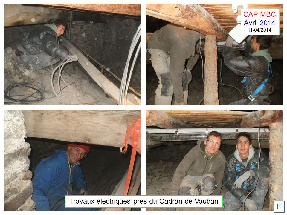 F Travaux électriques près du Cadran de Vauban CAP MBC Avril 2014 11/04/2014