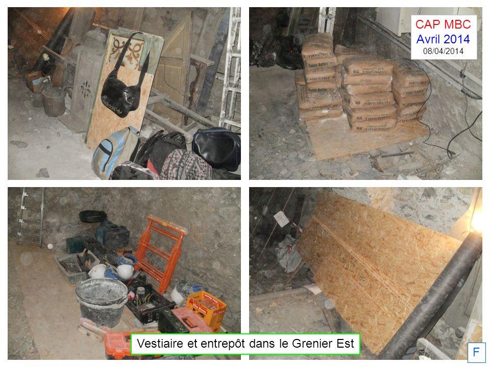 F Vestiaire et entrepôt dans le Grenier Est CAP MBC Avril 2014 08/04/2014