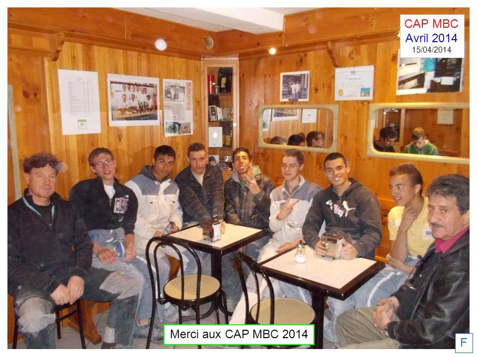 F CAP MBC Avril 2014 15/04/2014 Merci aux CAP MBC 2014
