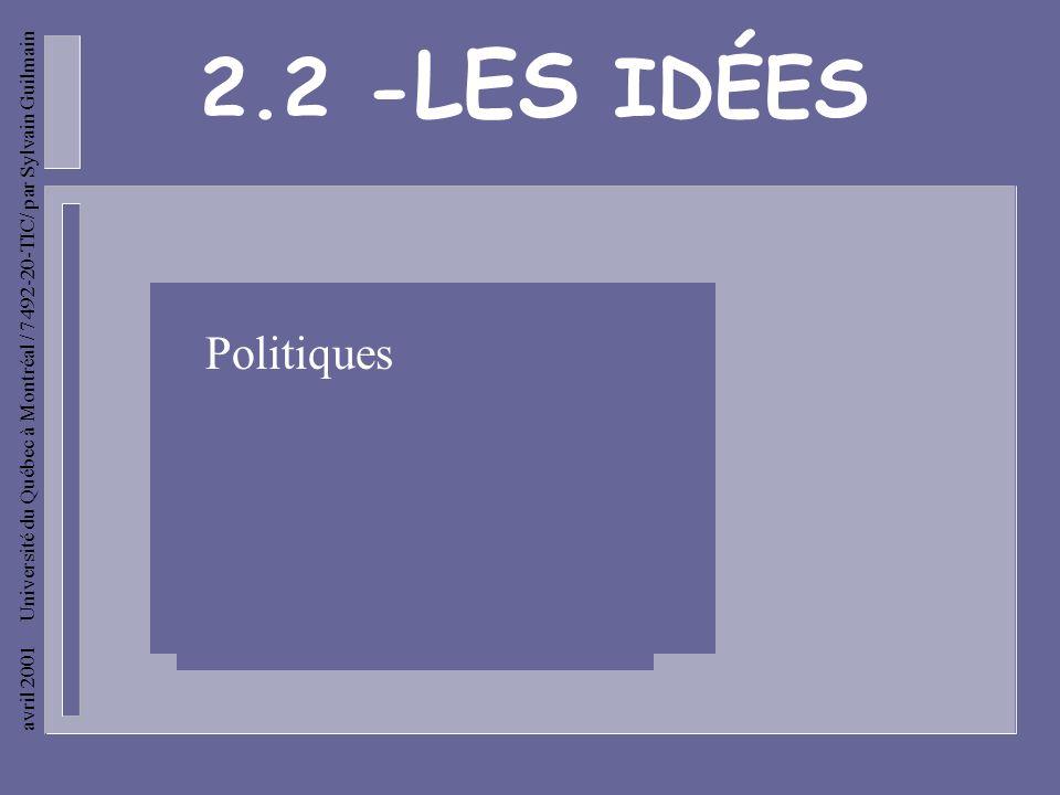 avril 2001 Université du Québec à Montréal / 7492-20-TIC/ par Sylvain Guilmain ROUSSEAU -Jai écrit le Contrat social. Jy rêve dune cité idéale où les