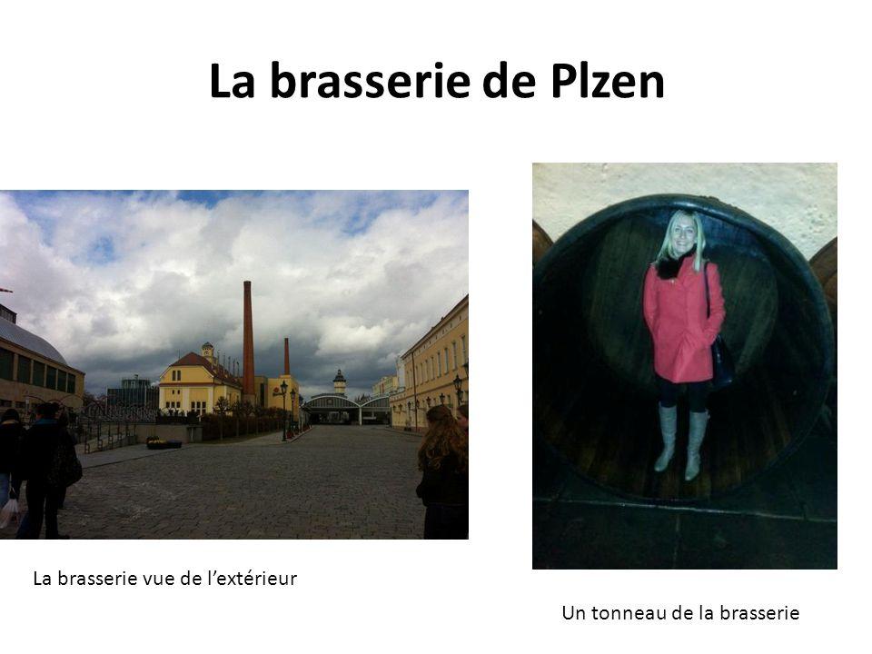 La brasserie de Plzen La brasserie vue de lextérieur Un tonneau de la brasserie