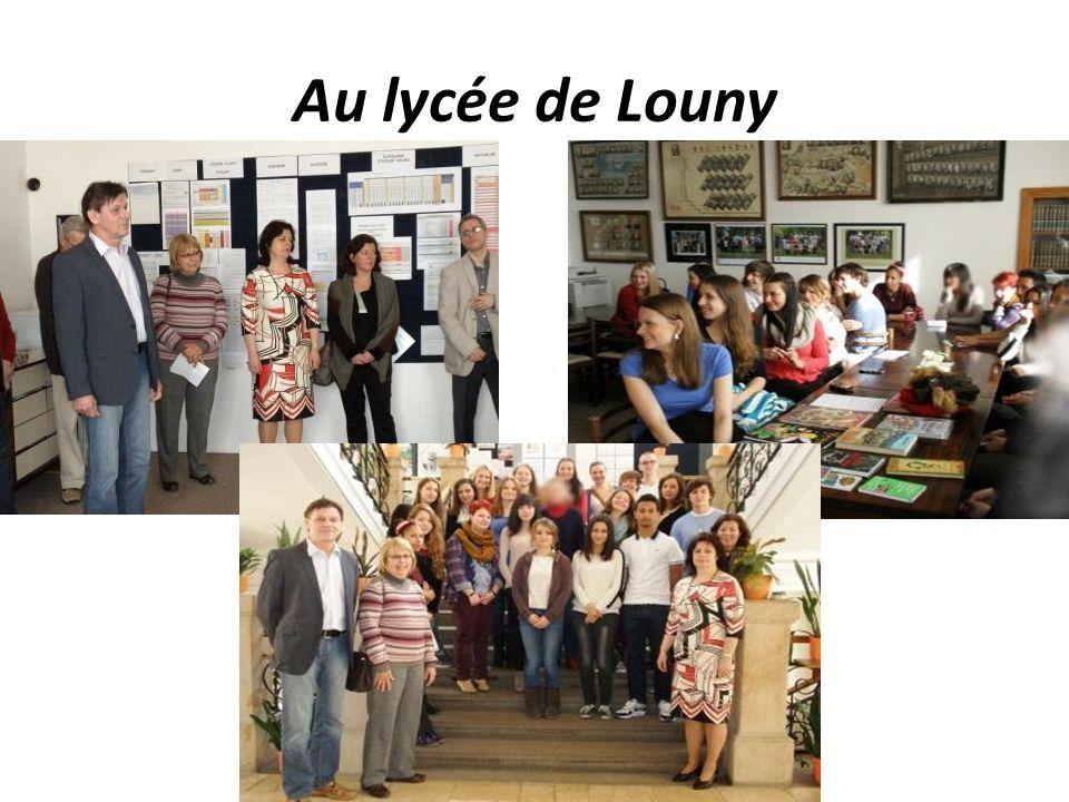 Au lycée de Louny
