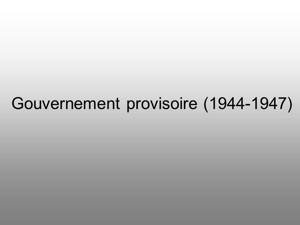 Gouvernement provisoire (1944-1947)