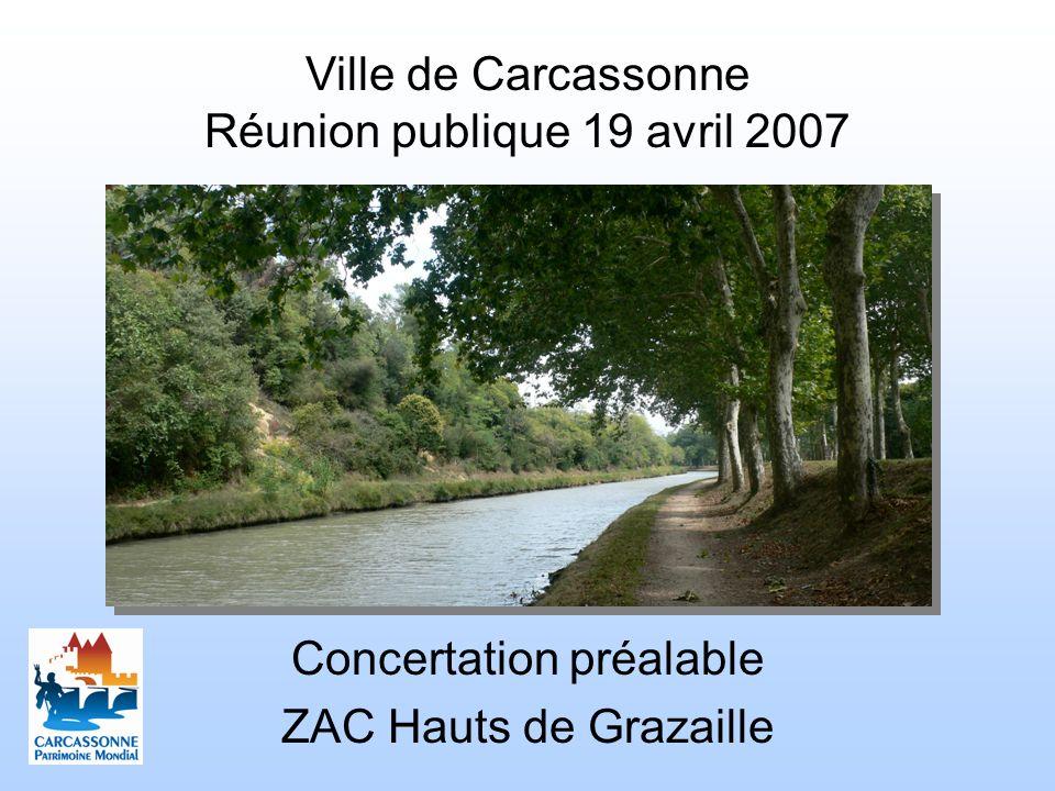 Ville de Carcassonne Réunion publique 19 avril 2007 Concertation préalable ZAC Hauts de Grazaille