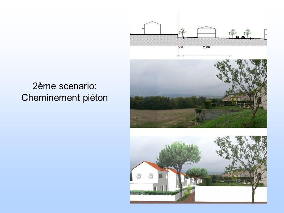 2ème scenario: Cheminement piéton