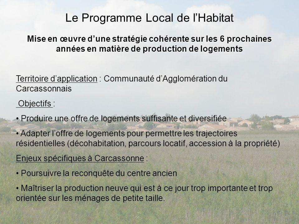Le Programme Local de lHabitat Mise en œuvre dune stratégie cohérente sur les 6 prochaines années en matière de production de logements Territoire dap
