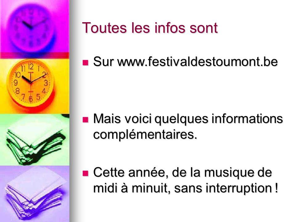 Le 28 avril prochain Cest le festival de Stoumont