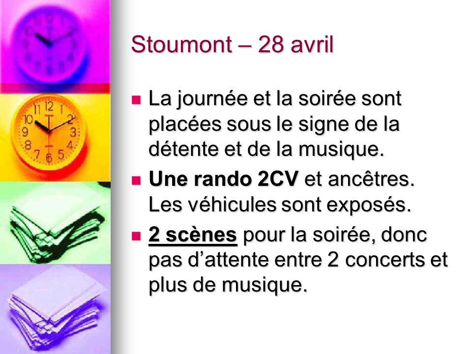 Toutes les infos sont Sur www.festivaldestoumont.be Sur www.festivaldestoumont.be Mais voici quelques informations complémentaires.