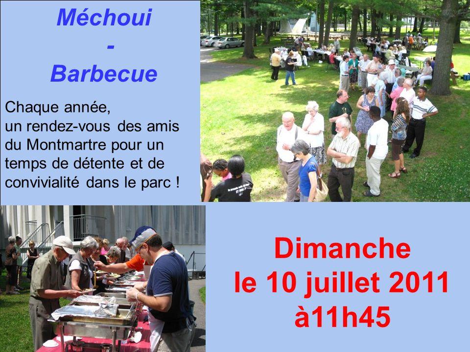 Méchoui - Barbecue Chaque année, un rendez-vous des amis du Montmartre pour un temps de détente et de convivialité dans le parc ! Dimanche le 10 juill
