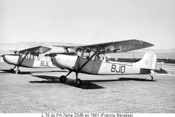 L 19 du PA 7ème DMR en 1961 (Francis Bergèse)