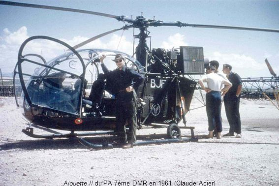 Alouette II du PA 7ème DMR en 1961 (Claude Acier)