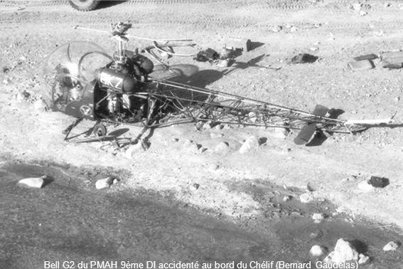 Bell G2 du PMAH 9ème DI accidenté au bord du Chélif (Bernard Gaudelas)